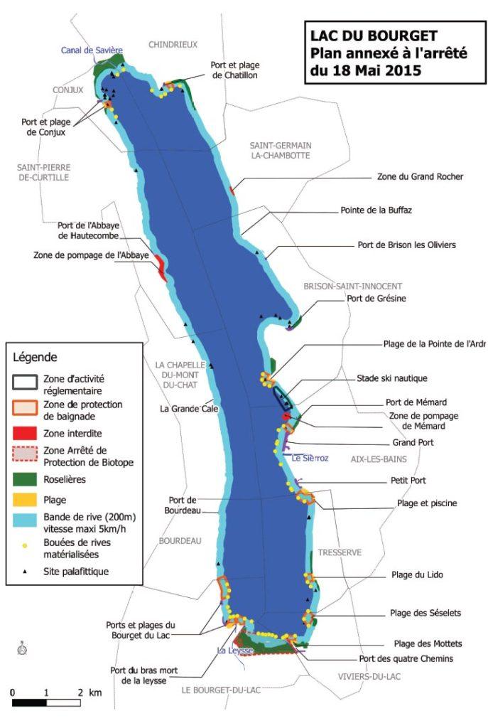 Plan du Lac CLBCK Rhôn'Ô Lac - rhonolac rhonolac.fr Chambéry Le Bourget canoë kayak Lac du Bourget navigation de nuit clair de lune Chanaz Conjux Canal de Savière Aix les Bains Aix Riviera Hautecombe Savoie